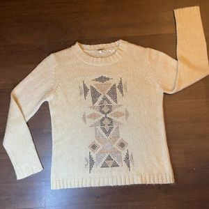 Miss Me Cream Sweater w/ bedazzlements - M